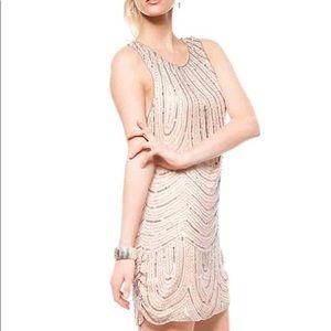 PARKER Sequins Blush Dress Size Medium